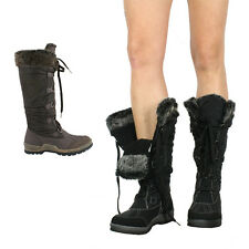 S437 - Ladies Mid-Calf Faux Lined Winter Snow Boots - UK 3 - 8