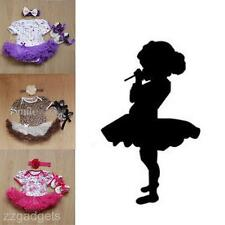 New Baby Girl Infant Kids Clothes Romper Skirt Shoes Headband 3Pcs Outfit Sets