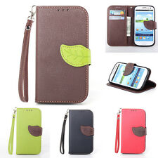 Glossy PU Leather Magnetic Flip Stand Wallet Case Cover for Samsung Galaxy S3 S4