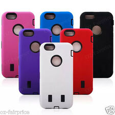 iPhone 4/5/6/S Plus Heavy Duty Defender ShockProof Tough Hard Case Cover +SP