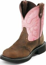 "Justin Women's Gypsy Collection 8"" Western Boots Bay Apache Leather Medium L9901"