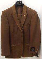 MEN'S 3PC SUIT FALCONE,RAID,RUST,SUEDE LOOK TRIM,BIG & TALL SIZES NEW WITH TAGS