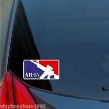 AR-15 red white blue sticker decal Constitution 2A 2nd Amendment MLB rifle scope