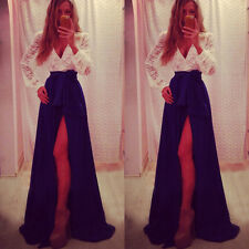 Sexy Fashion Lady Lace Cocktail Dress Party Evening Ball Prom Long Dresses Gown