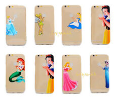 Disney Princess Ultra Thin Transparent TPU Soft Case For iPhone 5/5S/6/6 Plus