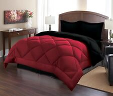 LUXURY GOOSE DOWN ALTERNATIVE REVERSIBLE COMFORTER WITH TWO SHAMS 3 PIECES