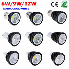 New E27 GU10 MR16 6W 9W 12W Bombilla COB LED Spotlight Lamp Bulbs Focos Lámparas