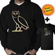 OVO Drake Gold Owl Ovoxo Octobers Very Own Weeknd Hoodie Hooded Sweatshirt NEW