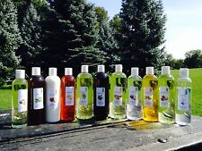 16 OZ(473 ML)PURE ORGANIC CARRIER OILS 2 BOTTLES OF DIFFERENT OILS EACH 8 OZ