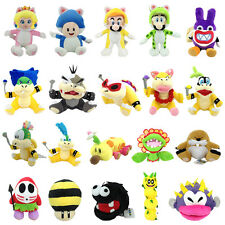 New Super Mario Bros Character Plush Toy Stuffed Animal Cat Form Peach Koopa ETC