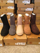 Auth. UGG Australia Classic Short Boot Black , Gray, Sand, Chest. Choc  SZ. 6-9