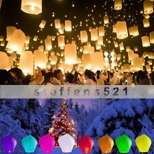 Mix colors flying sky paper Wishing lanterns floating UFO Birthday Flying Party