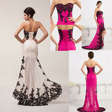 2014 Long SEXY Applique Evening Formal Prom Party Cocktail Dresses Wedding Gowns