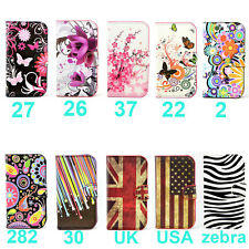 "Flower Wallet Flip Case Cover Samsung Galaxy Ace 4 / Ace NXT SM-G313H 4.0""+ Gift"