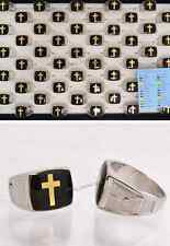 FREE Wholesale lot Cross Glaze Change Color Mood Silver Plated Man Rings