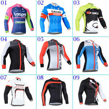 2014 New Mens Cycling Bicycle Clothing Long Sleeve Jersey Breathable Quick Dry