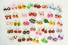 FREE Wholesale Mixed Lots Handmade 3D Fimo Polymer Clay Earrings Choose Quantity