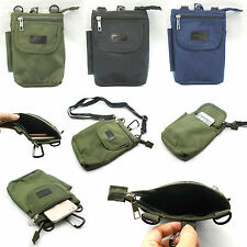 Practical Unisex Canvas Travel Wallet Pouch Phone Zip Pocket Bag Hips Bag