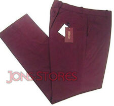 STA PRESS TROUSERS MOD RETRO CLASSIC 60's 70's STYLE by RELCO  - Burgundy
