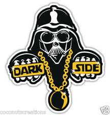 DARKSIDE DECAL BUMPER STICKER DARTH VADER