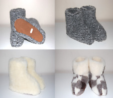 Natural Sheepskin Leather Wool House Slippers Womens/Mens Size UK 3-11