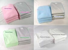Adult Baby Flannel/ Waterproof Nappy Washable Reusable Insertion diaper