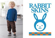 New Rabbit Skins Long Sleeve Cotton T-Shirt Tee Toddler Kids Boys Girls 3311