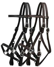 Leather Halter Bridle Combination with 7' Leather Split Reins! FREE SHIP!