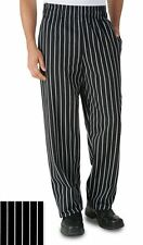"""Uncommon Threads CLASSIC BAGGY CHEF PANT WITH 3"""" ELASTIC WAIST CHALKSTRIPE 4000"""