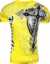 Konflic Men's Giant Cross Graphic Designer MMA Muscle T-shirt
