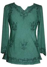 127 B Renaissance Peasant Gypsy Victorian Embroidery Gothic Blouse Top