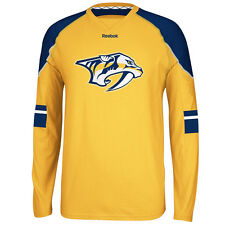 Nashville Predators Faceoff Edge Long Sleeve T-Shirt - Gold