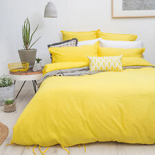 Bambury SUNSHINE Yellow Duvet Doona Quilt Cover Set - Queen King Size Bed