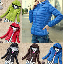 Fashion Womens Men Winter Warm Hooded Candy Slim Down Coat Jacket Overcoat Parka
