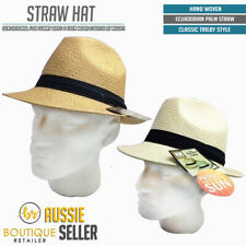 STRAW HAT TRILBY Summer Panama Fedora Sun Beach Cap Elegant Fashion New