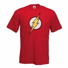 FLASH T shirt - Mens New Classic Comic Super Hero Big Bang Theory Sheldon