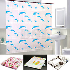 NEW Modern Bathroom Shower Curtain with Ring Hooks 200 x 180 cm
