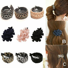 Best Women Comb Style Ponytail Hair Holder Wrap Tie Cuff Clips Accessories band