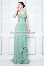 Prom Dresses Green Ruched Chiffon Formal Gowns Inspired by Maria Menounos