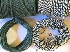 20mts  2mm Thick Christmas Cotton Bakers Twine. 10mts green + 10mts stripe green