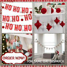 CHRISTMAS PAPERCHAIN / GARLAND / BUNTING DECORATIONS Vintage Hanging Party Decor