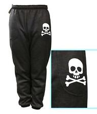 NEW MENS PRINTED SKULL MMA FUNNY FLEECE JOGGER DRAWSTRING SWEAT PANTS S~5XL