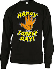 Happy Turkey Day Thanksgiving Holiday Celebrate Thankful Long Sleeve Thermal