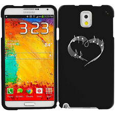 For Samsung Galaxy Note 2 3 4 Rubber Hard Case Cover Heart Love Music Notes