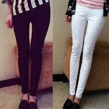 Women Lace Leggings Casual Embroidered Slim Pencil Pants Plus Size Trousers
