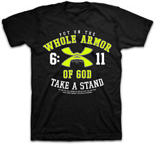 Kerusso Mens Christian T-Shirt Whole Armor of God Eph 6:11 NEW! Free US Shipping