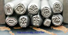 SUPPLY GUY 5-7mm Individual Metal Design Stamp: People, Baby & Faces Made in USA