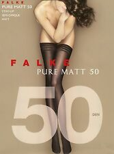 Falke Stay-up Opaque Thigh High Stockings Pure Matt 50 NIB