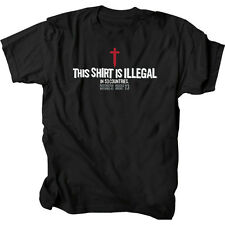 Gardenfire Black Illegal Mens Christian T-Shirt. Free US Shipping!