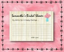 14 Personalized - Wedding Wishes / Advice - Bridal Shower Game - Party Games